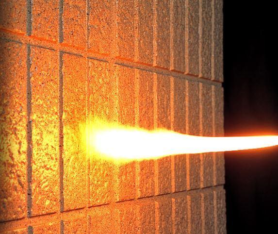 外壁防火試験1