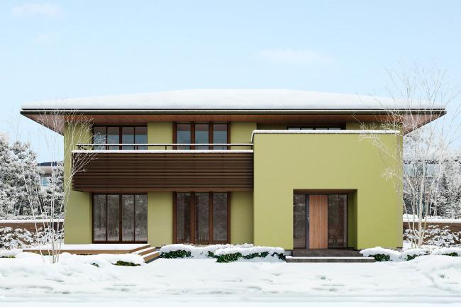 雪のなかに建つ住友林業の家