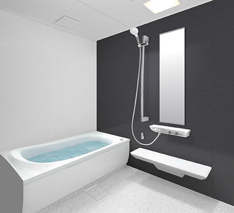 黒い壁のお風呂