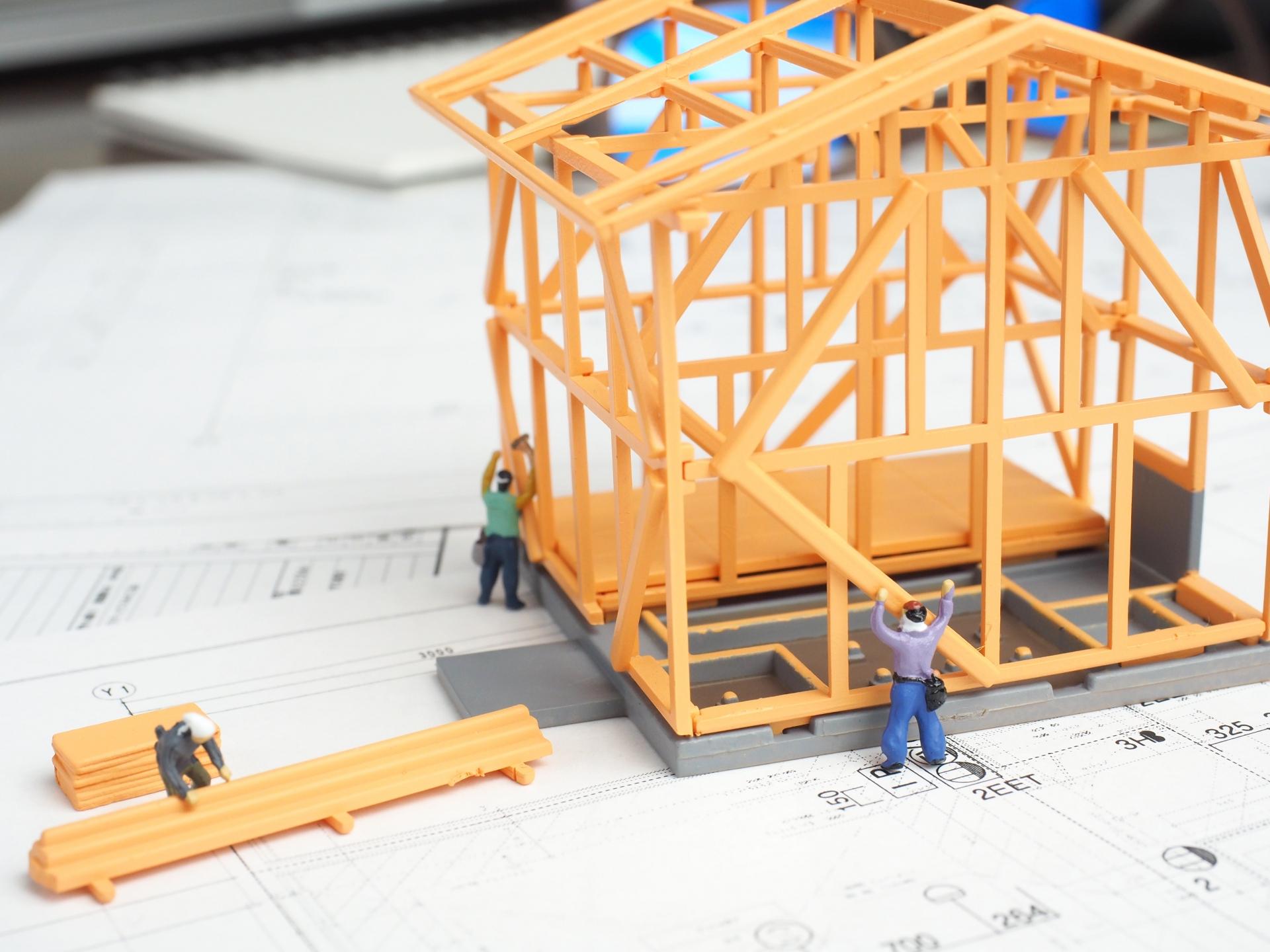 建築現場の模型